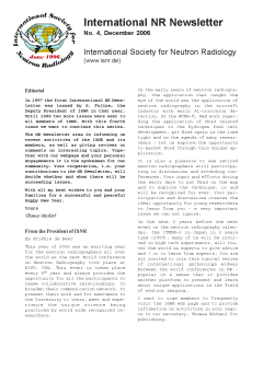 International NR-Newsletter no. 4