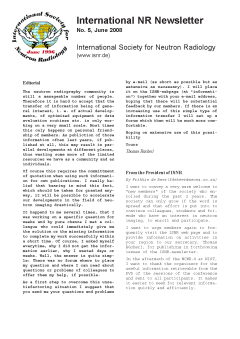 International NR-Newsletter no. 5