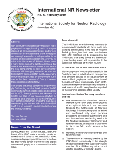 International NR-Newsletter no. 6